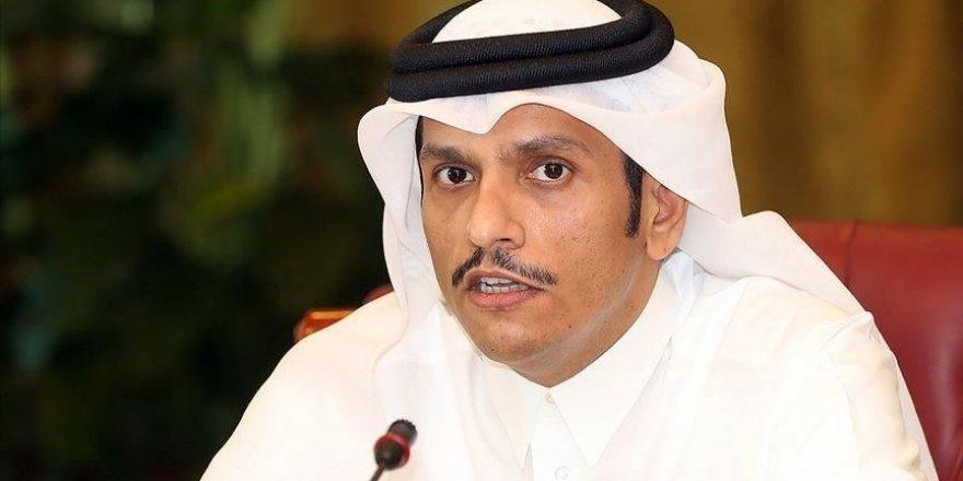 Katar: Filistin'in bağımsız devlet kurma hakkını desteklediğimizi yineliyoruz