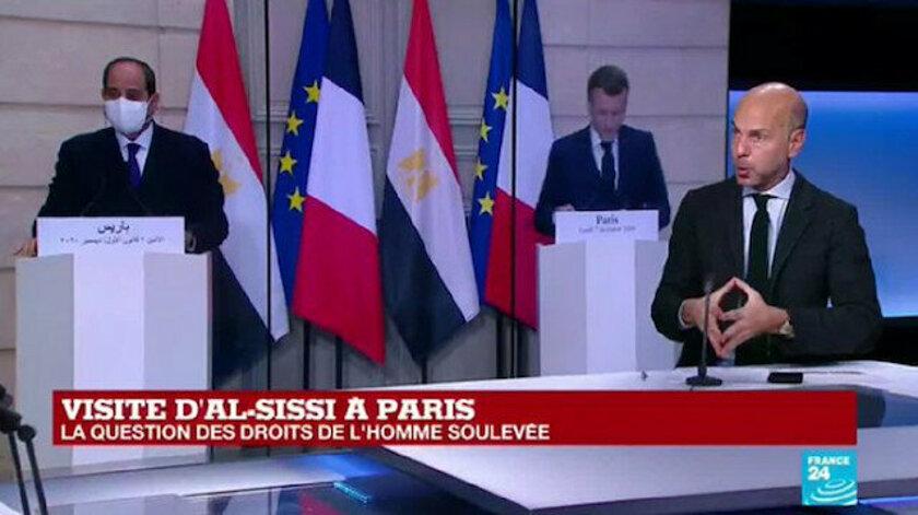 İslamofobik Macron ile darbeci Sisi Erdoğan düşmanlığında hemfikir