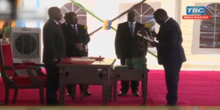 Yemin metni Tanzanyalı bakan yardımcısını koltuğundan etti