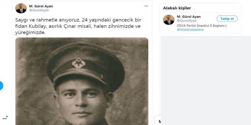 DEVA Partili il başkanından Kemalistlere şapka çıkartacak Kubilay paylaşımı!