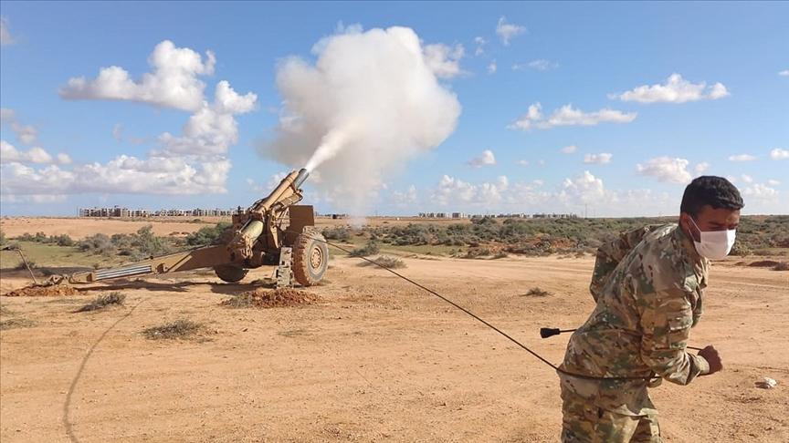 TSK Libya ordusuna ağır silah atış eğitimi verdi