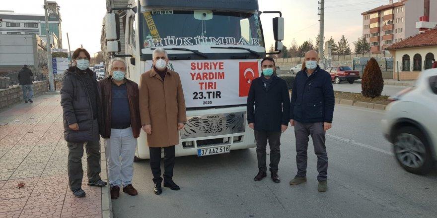 Kastamonu İHH'dan Suriye'ye yardım tırı