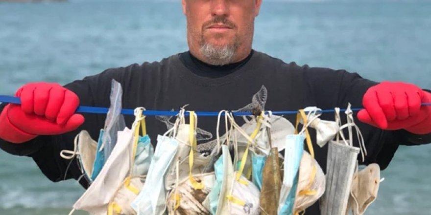 Pandemi sürecinde okyanuslar maske çöplüğüne döndü