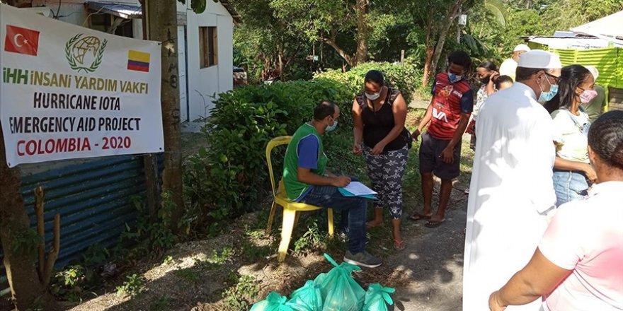 İHH'dan Kolombiya ve Guatemala'daki kasırga mağdurlarına yardım