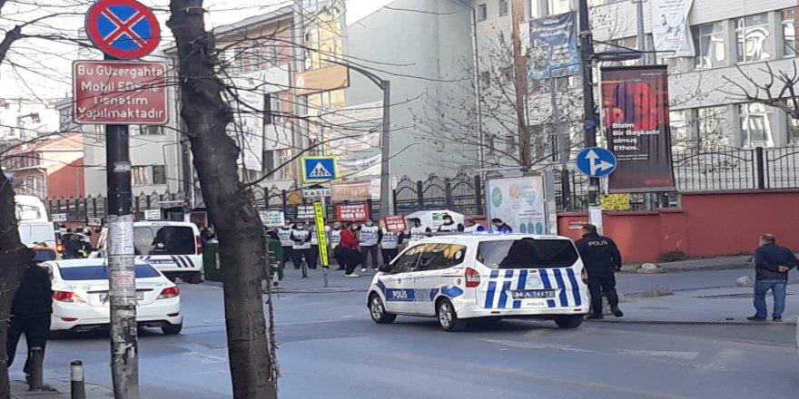 Hukuksuzluğu protestoya polis müdahalesi