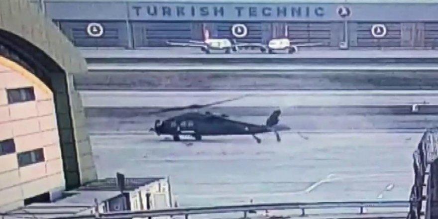 Helikopterin kaza anı kamerada