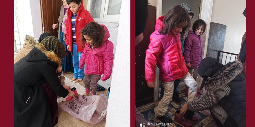 Hayırda Buluşanlar Topluluğundan çocuklar için kışlık yardım çalışması