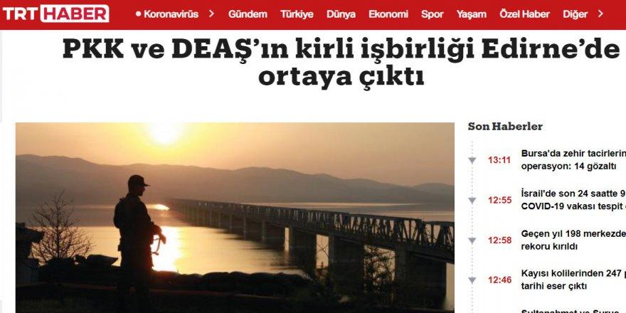 PKK ile IŞİD nasıl işbirliği yapmış TRT Haber'den öğreniyoruz!