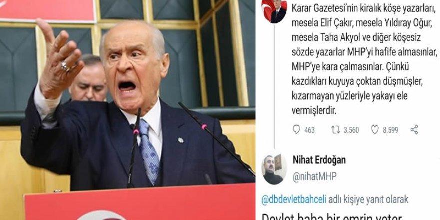 Devlet Bahçeli, Karar gazetesinin yazarlarını hedef gösterdi!