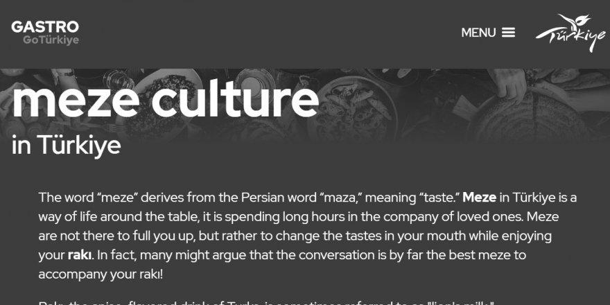 Turizmci Bakan'dan rakı-meze 'kültürü' üzerine tavsiyeler!