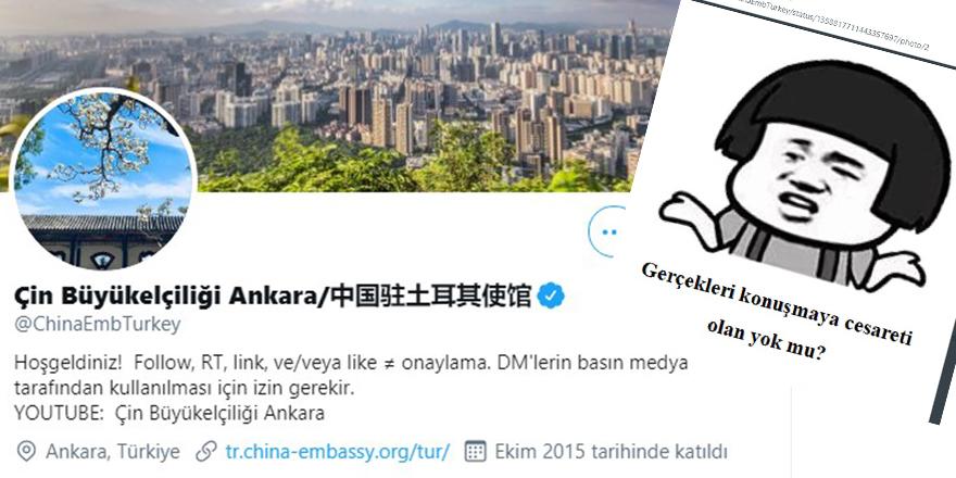 Çin Ankara Büyükelçiliği'nden dezenformasyon
