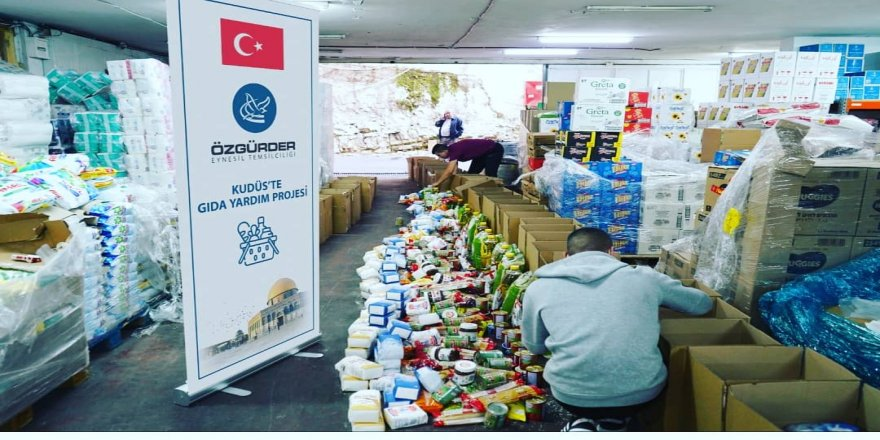 Eynesil Özgür-Der 'den Kudüslü Müslümanlara gıda yardımı