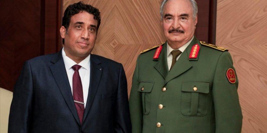 Libya'nın yeni seçilen Başkanlık Konseyi Başkanı Menfi, Bingazi'de Hafter'le görüştü
