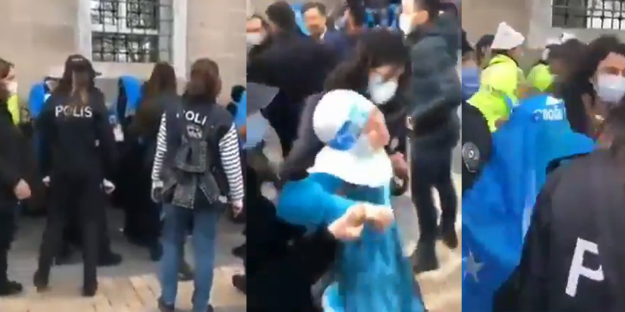 Doğu Türkistanlı kardeşlerimizi engelleyenler kimin emniyet güçleri?