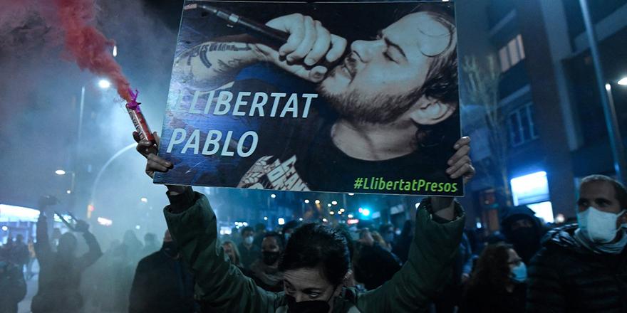 Katalan rapçi Pablo Hasel'in tutuklanmasına tepkiler sürüyor