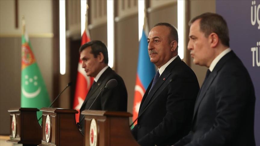 Türkiye-Azerbaycan-Türkmenistan Dışişleri Bakanları ortak bildiri imzaladı