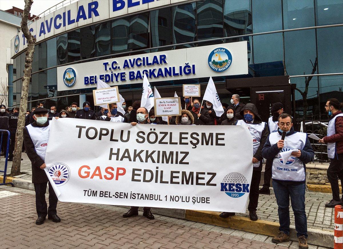 CHP'li belediyelerdeki grevlere Avcılar da katıldı