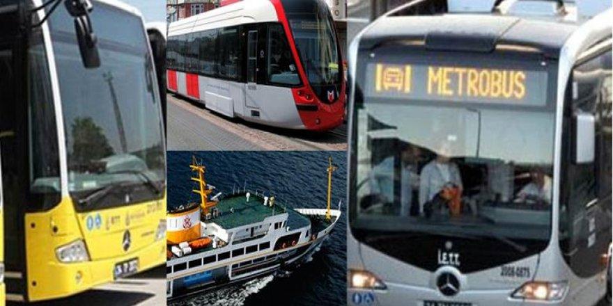 İstanbul'da 65 yaş üstü ve 20 yaş altı vatandaşlara toplu ulaşım izni