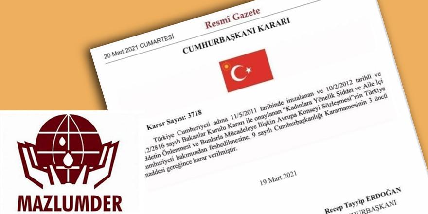 Mazlumder İstanbul Sözleşmesi'nin iptali ile ilgili basın açıklaması yaptı