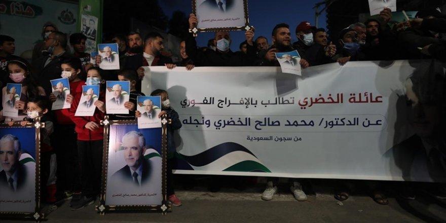 Suudi Arabistan'da tutuklu Hamas yetkilisinin serbest bırakılması için Gazze'de gösteri düzenlendi