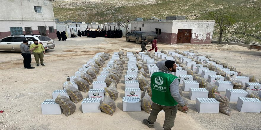 Fukara-Der'den İdlib'de 5 bin aileye gıda yardımı