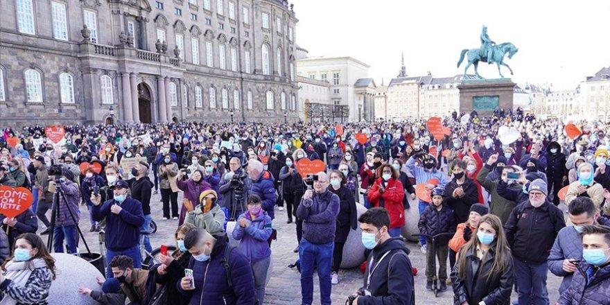 Danimarka'da Suriyeli mültecilerin geri gönderilmesi protesto edildi