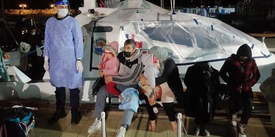 Çanakkale açıklarında Yunanistan unsurlarınca geri itilen 101 göçmen kurtarıldı