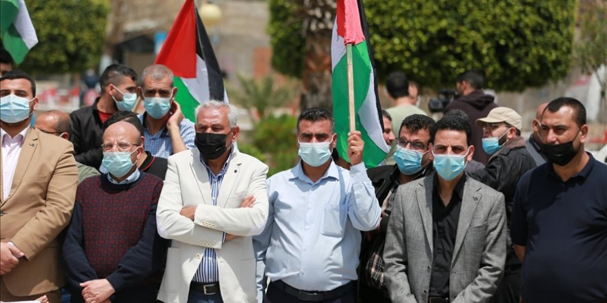 Gazze'de Doğu Kudüs'teki Filistinlilere destek gösterisi düzenlendi