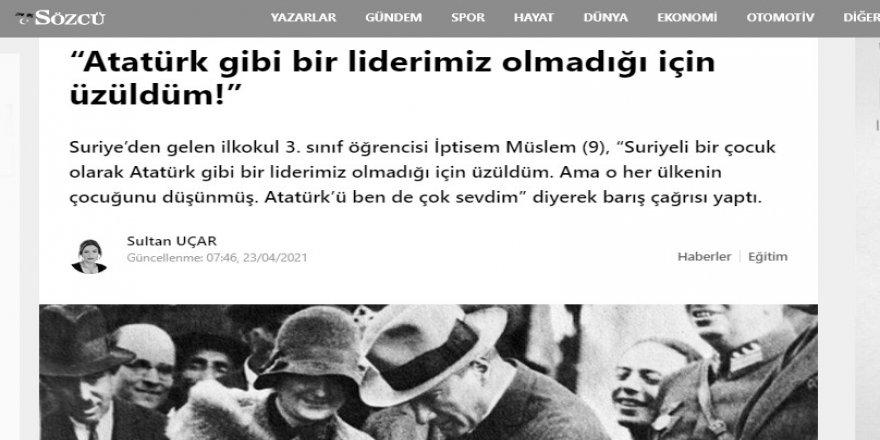 Suriyeli muhacirin de Atatürk'ü yücelteni makbuldür!