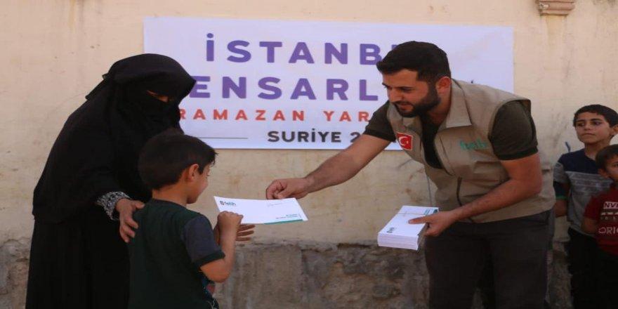 İstanbul Ensarları Suriye'de yetim ailelere zekat dağıtımı gerçekleştirdi