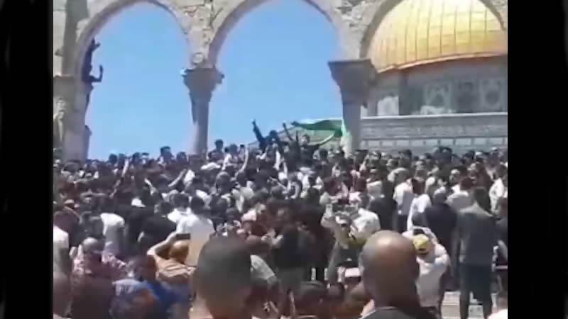 Aksa'da Erdoğan sloganları