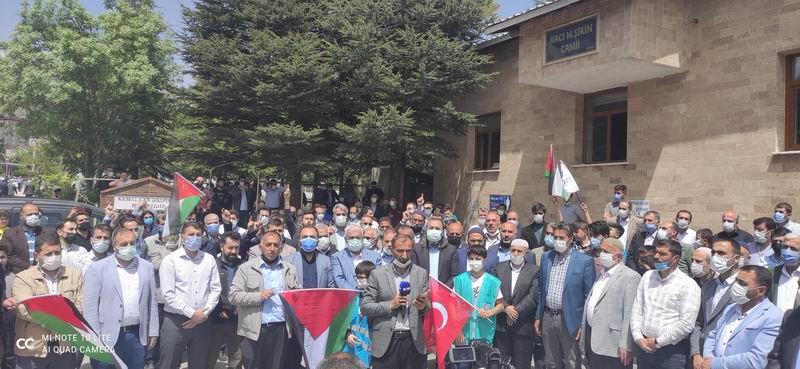 Bitlis'te Gazze şehitleri için gıyabi cenaze namazı kılındı