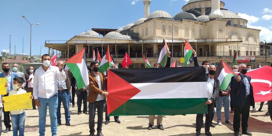 Yüksekova'da Kudüs ile dayanışma eylemi
