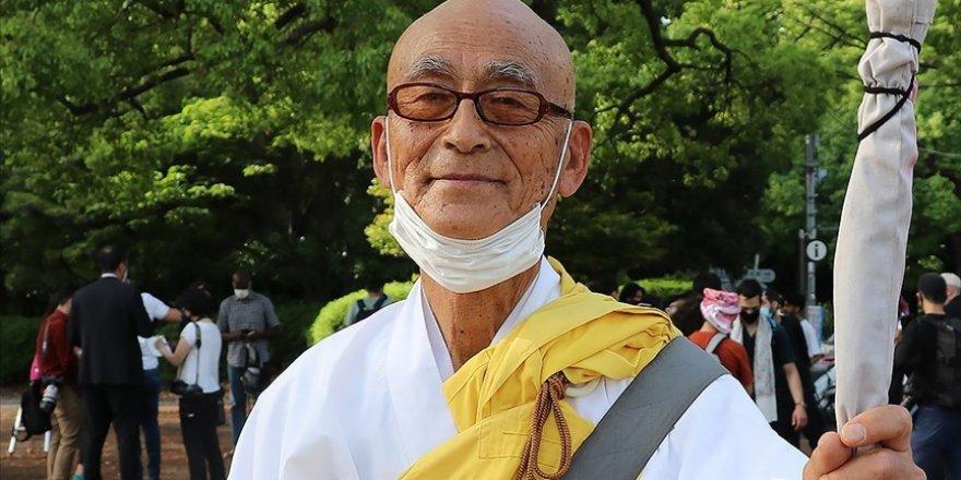 Japonya'daki Budist rahipten İsrail'in saldırdığı Filistin'e destek