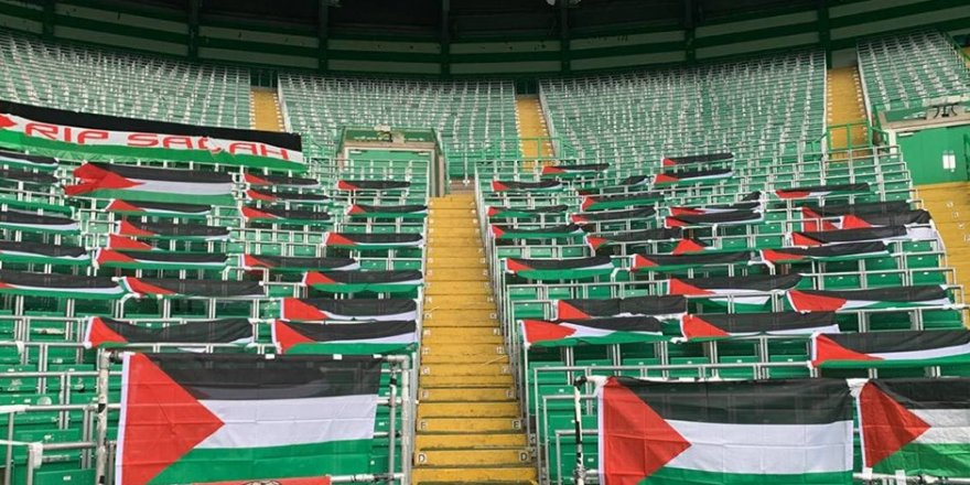 Celtic taraftarlarından Filistin bayraklarını kaldıran yönetime tepki