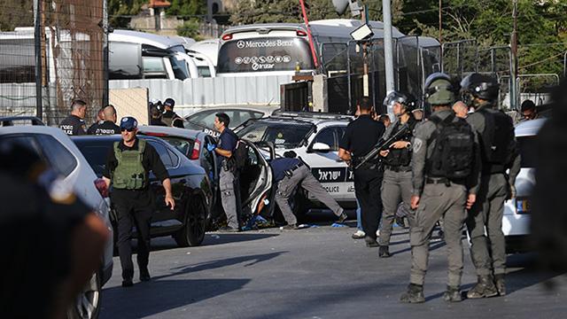 Doğu Kudüs'te araçlı eylem girişimi: 6 İsrail polisi yaralandı