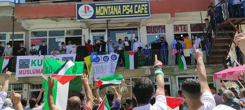 Muş Hasköy'de Siyonist İsrail'in saldırıları lanetlendi