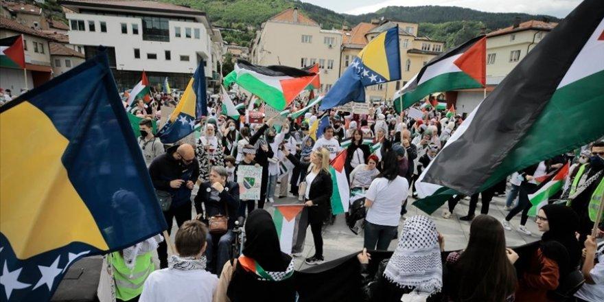 Bosna'da Filistin'e destek gösterisi düzenlendi