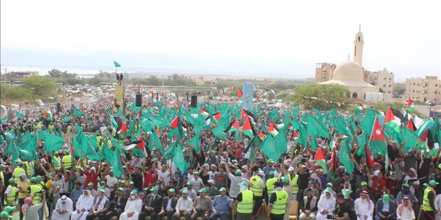 Ürdün'deki Filistin mülteci kampında Filistin'e destek gösterisi düzenlendi