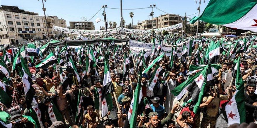 Suriye'de sözde devlet başkanlığı seçimi protesto edildi