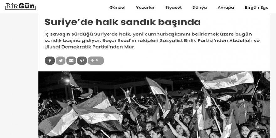 Göstermelik Suriye seçimleri sadece Türkiye solunun içler acısı halini gösteriyor!