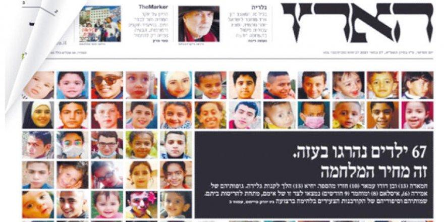 Siyonist İsrail'in Gazze saldırıları ve Haaretz gazetesinin misyonu
