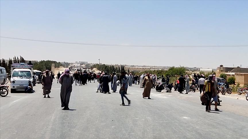 Münbiç ve çevresinde YPG/PKK'ya karşı eylemler yayılıyor