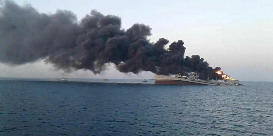 İran donanmasının en büyük gemisi 'Hark' battı