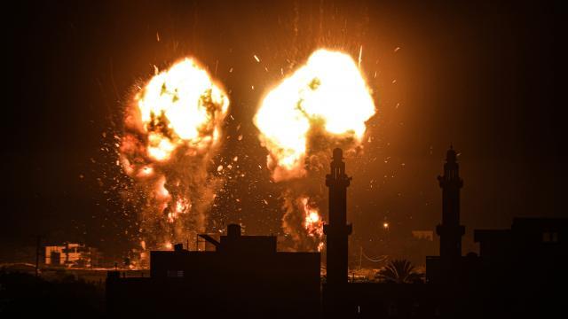 Siyonist İsrail'den Gazze Şeridi'ne saldırı