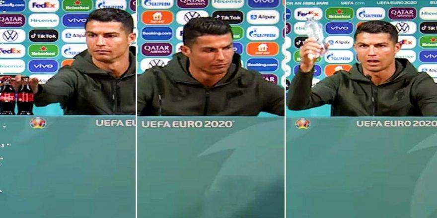 Ronaldo'nun Coca-Cola tepkisi kelebek etkisi oluşturdu!