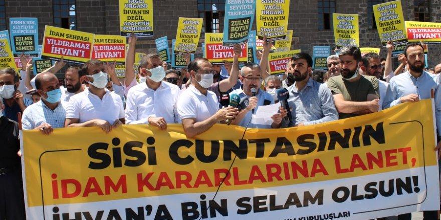 Sisi cuntasının idam kararları Diyarbakır'da protesto edildi