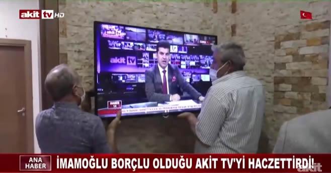 CHP'li İmamoğlu, borçlu olduğu Akit TV'yi haczettirdi!