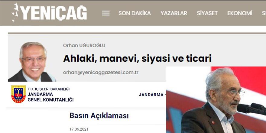 Jandarma Genel Komutanlığı 'Asiltürk'ün yeğenine ihale' haberini yalanladı