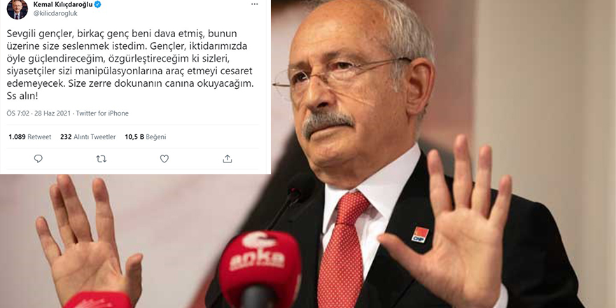 """Kılıçdaroğlu manipülasyonuna """"Ss alın"""" diyerek devam ediyor"""